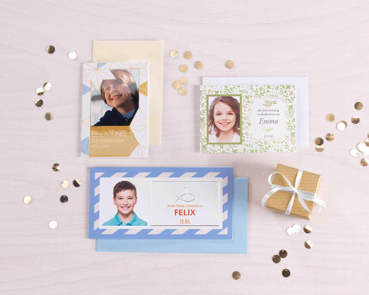 einladungskarten zur konfirmation gestalten mit foto | cewe