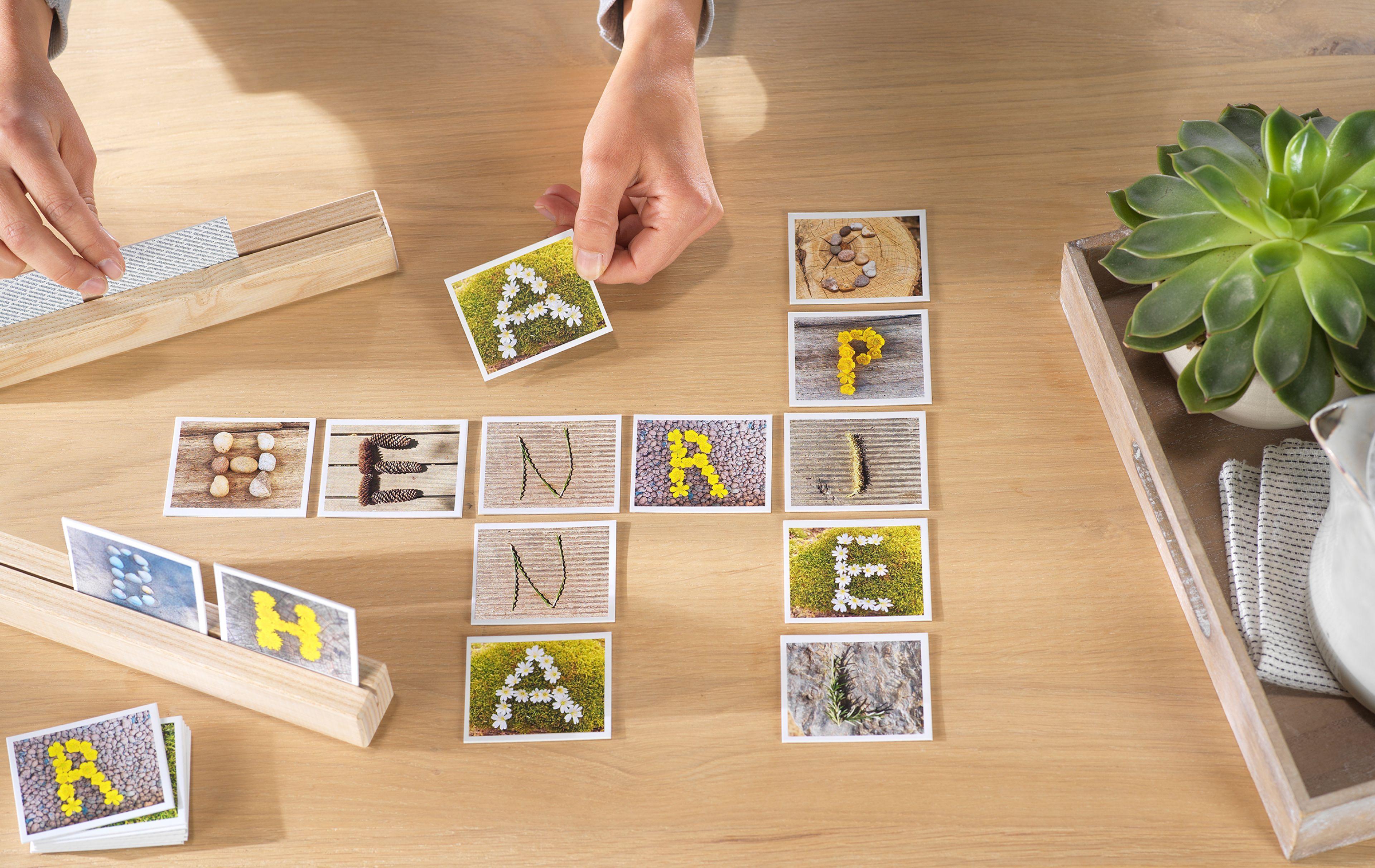 kreativtipp für das eigene fotomemo mit buchstaben  cewe